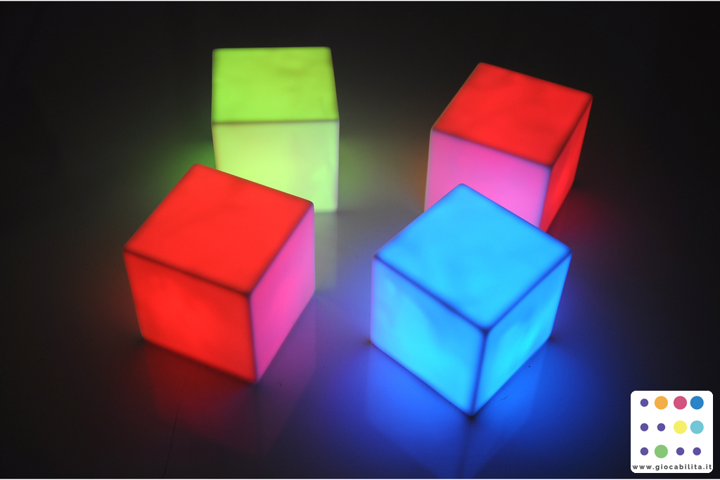Cubi luminosi set di 4