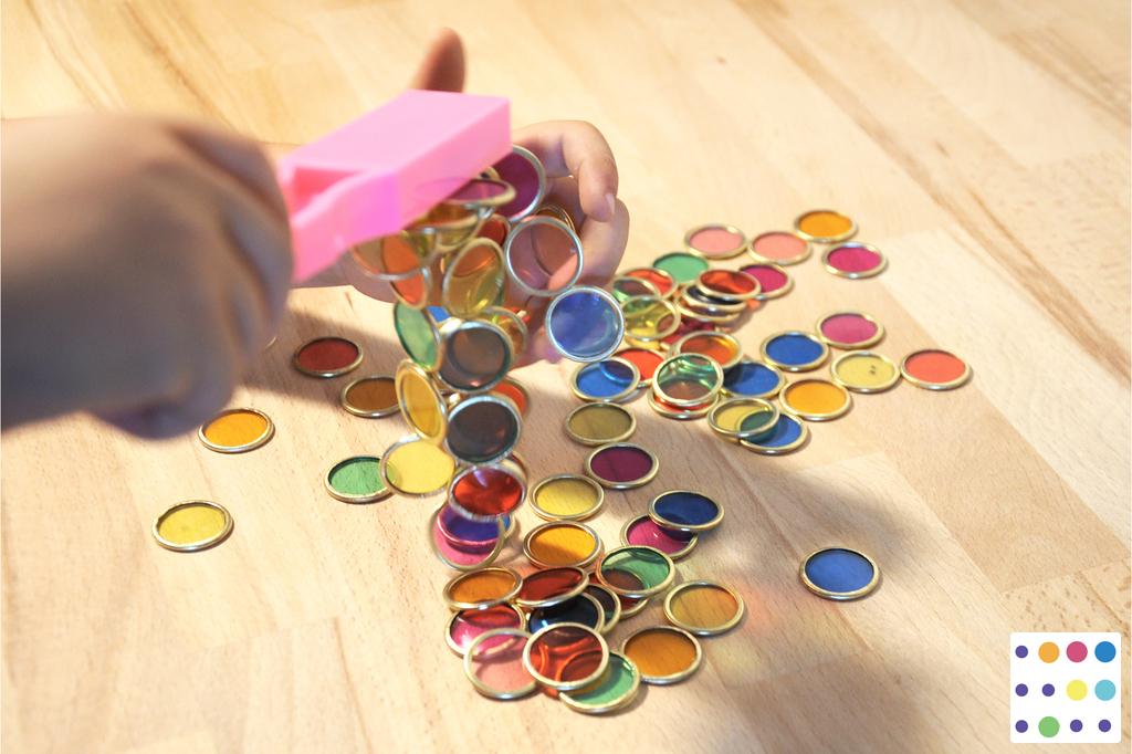 Bacchette magnetiche e bottoni