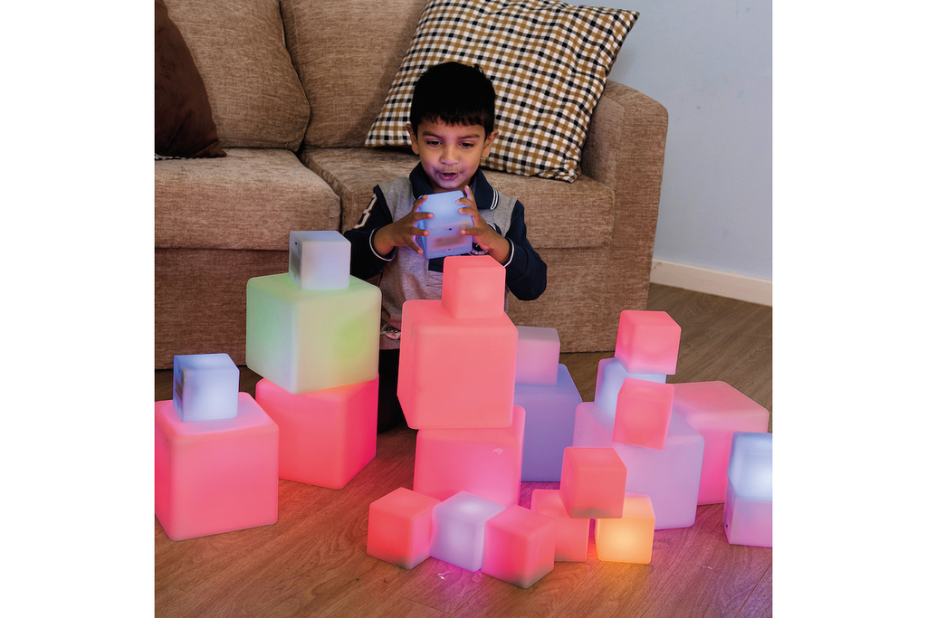 Cubi luminosi set di 12