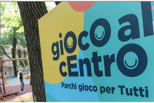 Inaugurazione parco giochi inclusivo giardini Montanelli